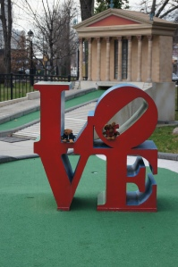 I LOVE PHILLY (and miniature golf at Franklin Square)!