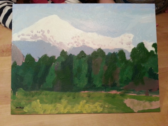 Can you Identify this Mountain painted by the ever-talented Molly?  Hint:  It's the highest peak in the Northeastern U.S.