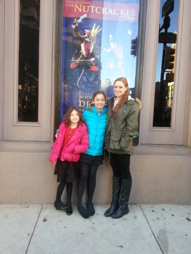 I have no idea who those girls are.  But we did see the Nutcracker with them.  And it was the best yet.