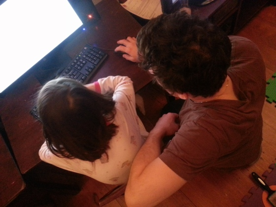 Added benefit - - learning to code in your pajamas, with Dad, at night after he gets home from work!