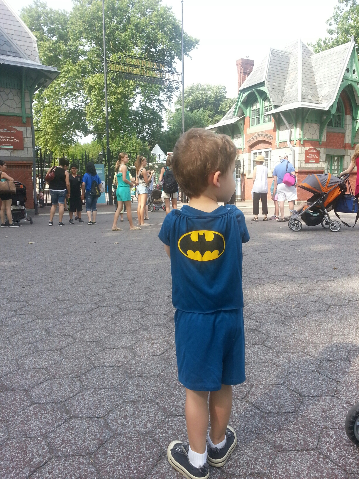 Even Batman has to Wait for the Zoo to Open
